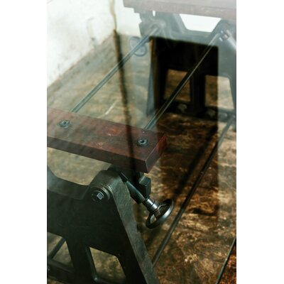 District Eight Design V3 Glass Press-Leg Dining Table