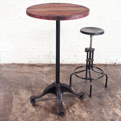 District Eight Design V41 2 Piece Round Bar Table Set