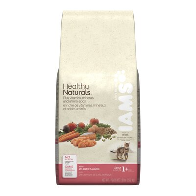 Iams Healthy Naturals Adult Dry Cat Food with Atlantic Salmon (6-lb bag)