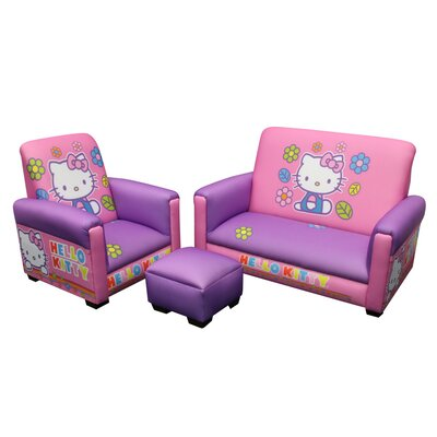 Hello Kitty Toddler Sofa, Chair and Ottoman Set