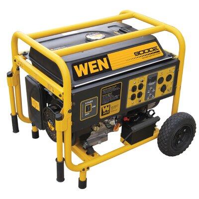 WEN 9,000 Watt Portable Generator with Wheel Kit