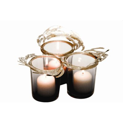 Rojo 16 Costa Brava Glass Votive Holder