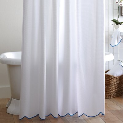 Peacock Alley Scalloped Pique Cotton Shower Curtain