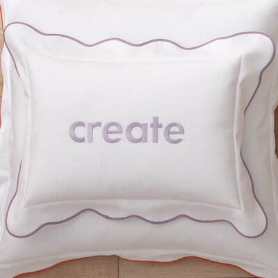 Pique Scalloped Cotton Boudoir Pillow