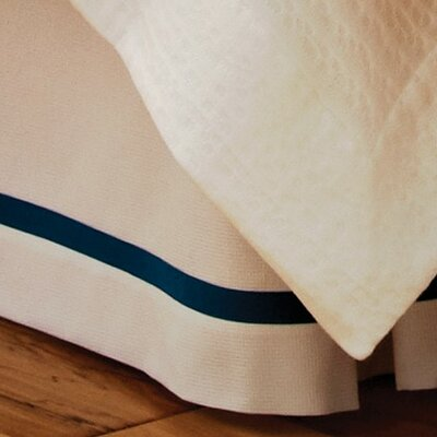 Peacock Alley Pique Tailored Cotton Bed Skirt