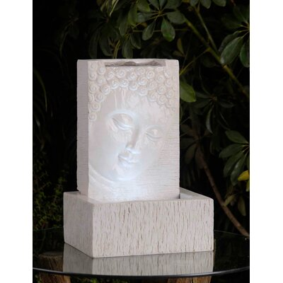 Polyresin and Fiberglass Buddha Fountain