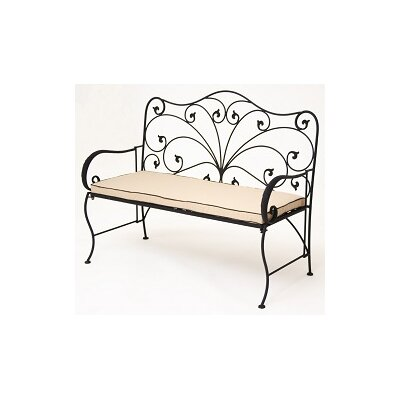 achla lattice wrought iron garden bench reviews wayfair