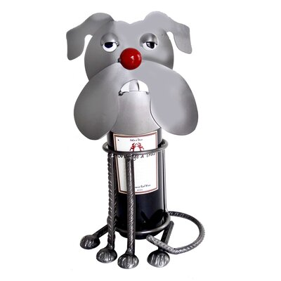 H & K SCULPTURES Bulldog Wine Caddy