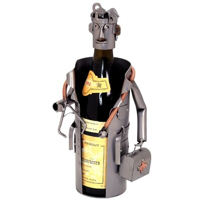 H & K SCULPTURES Male Doctor Wine Caddy