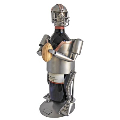 H & K SCULPTURES Football Wine Caddy