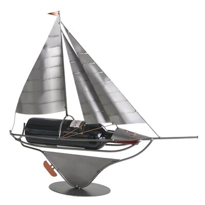 H & K SCULPTURES Sailboat Wine Caddy