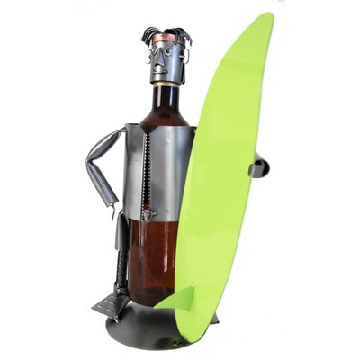H & K SCULPTURES Surfer Wine Caddy