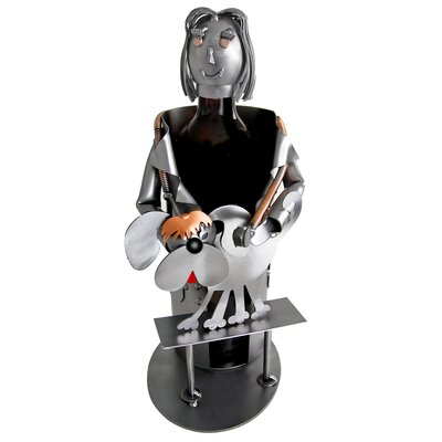 H & K SCULPTURES Veterinarian Female Wine Caddy