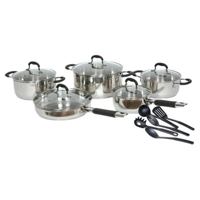 <strong>Gourmet Chef</strong> Stainless Steel 15-Piece Cookware Set