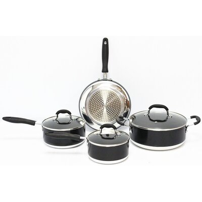 Gourmet Chef Induction Ready Non Stick 7 Piece Cookware Set