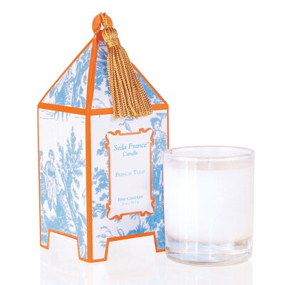 Classic Toile French Tulip Pagoda Candle