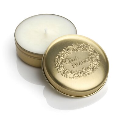 Seda France Classic Toile Rhubarb Pear Travel Candle