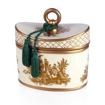Seda France Classic Toile Hyacinth Ceramic Candle