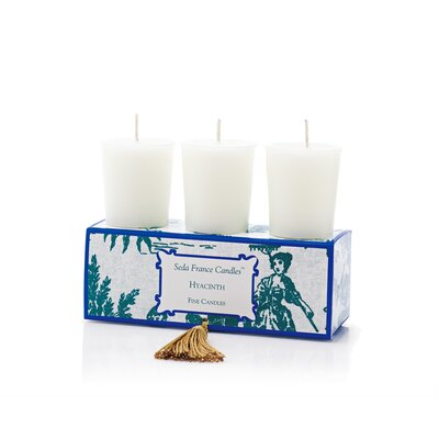 Seda France Classic Toile Hyacinth Votive Candle Set