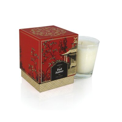 Seda France Jardin Red Amber Boxed Candle