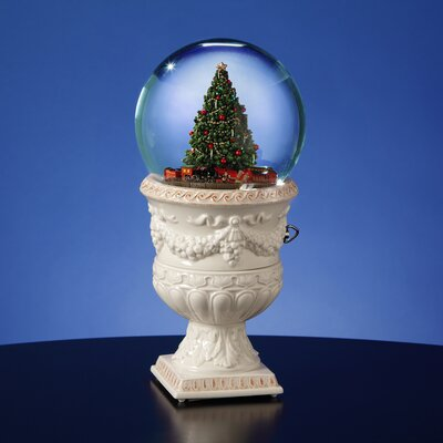San Francisco Music Box Christmas Tree Rotating Train Snow Globe Vase