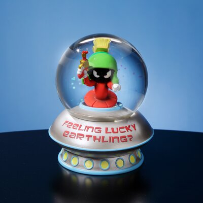 San Francisco Music Box Marvin Martian Feeling Lucky Water Globe