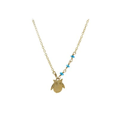 Rafia Jewelry Owl Apatit Necklace