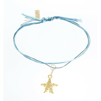 Rafia Jewelry Starfish Embroidery Floss Charm Bracelet