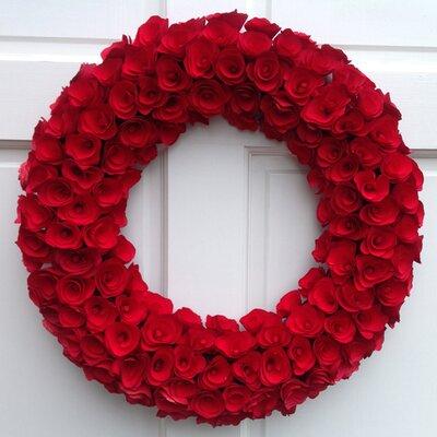 Mills Floral Wood Curl Wreath Amp Reviews Wayfair