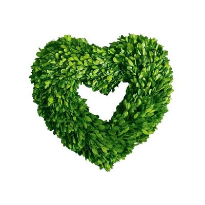 Mills Floral Boxwood Single Side Heart