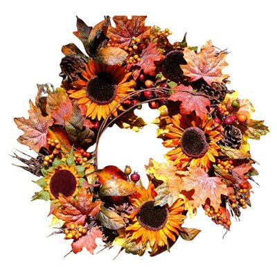 Mills Floral Autumn Sunflower Wreath
