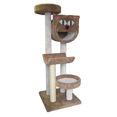"Molly and Friends 66"" Bed, Cave and Cradle Cat Tree"