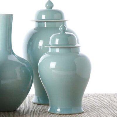 Tozai 2 Piece La Mer Covered Temple Decorative Urn Set