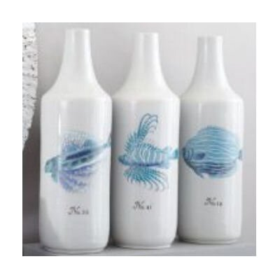 La Mer Coral Fish Vases (Set of 3)