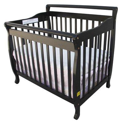 Dream On Me 3-in-1 Portable Convertible Crib in Black