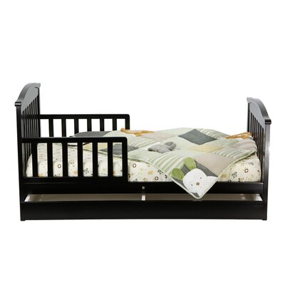 Mission Toddler Bed with Storage Drawer in Black