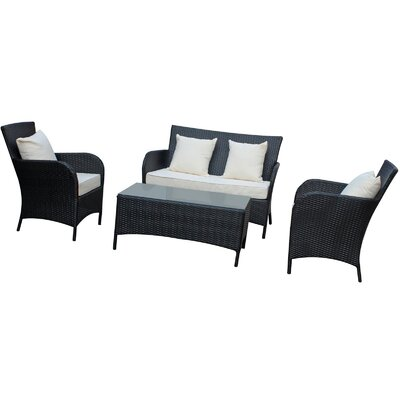 Modway Prosper 4 Piece Outdoor Patio Sofa Set
