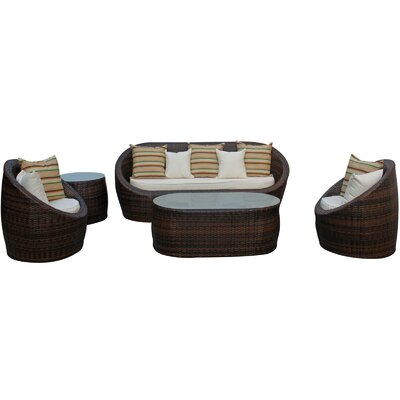 Modway 5 Piece Lounge Seating Group with Cushions