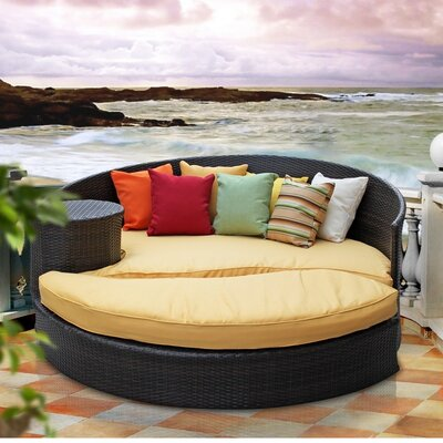 Modway Taiji Outdoor Daybed with Ottoman with Cushions