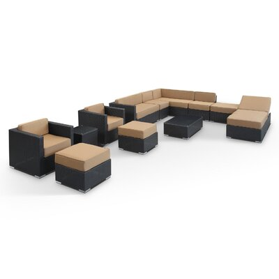 Modway Fusion 12 Piece Sectional Deep Seating Group With