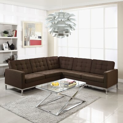 Modway Loft Wool L Shaped Sectional Sofa