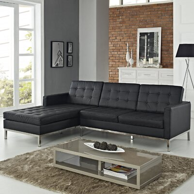 Loft Leather Left Arm Sectional Sofa