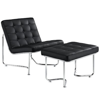 Modway Gibraltar Lounge Chair and Ottoman
