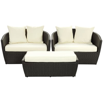 Modway Kindred 3 Piece Deep Seating Group with Cushions