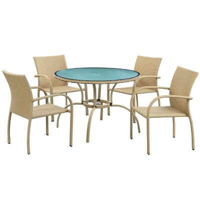 Modway Circulo 5 Piece Dining Set