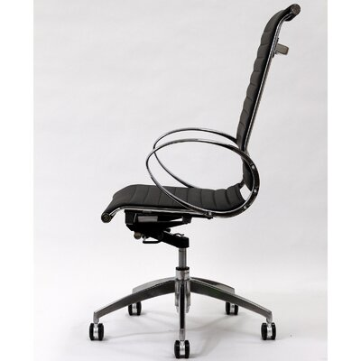 Modway Ribbed High-Back Leather Executive Office Chair