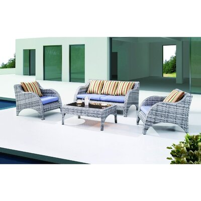 Modway Stoic Outdoor 4 Piece with Seating Group with Cushions