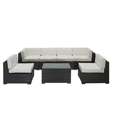 Modway Aero 7 Piece Sectional Deep Seating Group with Cushions