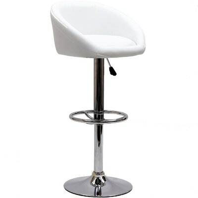 "Modway Marshmallow 25"" Adjustable Bar Stool"
