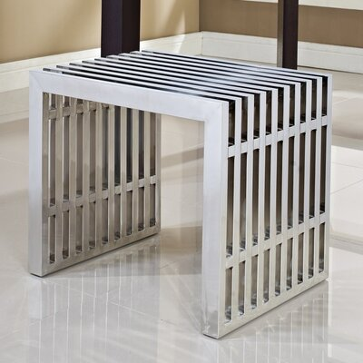 Modway Small Gridiron Metal Bench